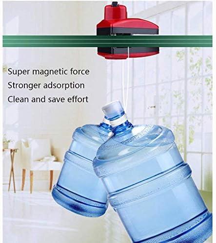 yunyu Nettoyant magnétique pour vitres, 8 Niveaux de Main magnétique Anti-pincement réglable adapté pour 5-24 cm monocouche Double Verre Universel, essuie-Glace magnétique