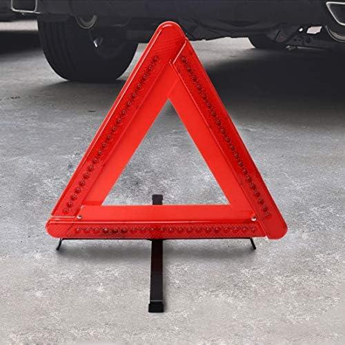MEI1JIA CELINEZL実用車トライアングル緊急警告サインオンFoldtable反射安全沿道照明一時停止の標識三脚警告三脚