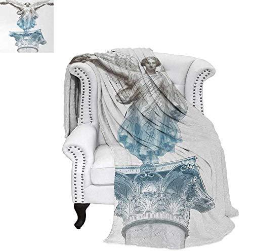 Warm Microfiber All Season Blanket Antique Muse Statue Athens Hellenistic Period Mythological Monument Art Print Artwork Image 60