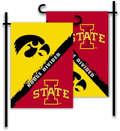 Iowa - Iowa State-2-Sided Garden Flag - Rivalry House Divided [Office Product] Rivalry House Flag