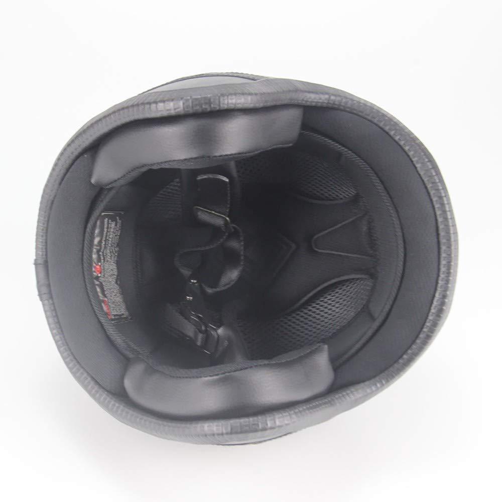QXFJ Jethelm Helm Jethelm Motorradhelm Roller-Helm ABS-Geh/äUse Hochdichtes EPS Leicht Atmungsaktiv Bequemes Futter Abnehmbare Kappe Design Mit DREI Kn/öPfen Schnellverschlusssystem