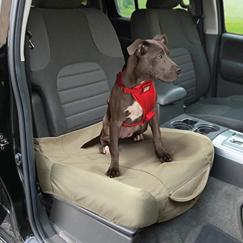 Kurgo Waterproof Shorty Car Bucket Seat Cover for Dogs, Hampton Sand Khaki ()