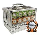 MRC POKER CHIPS 600pcs Monte Carlo Poker Club Poker Chips Set ACRYLIC CASE CUSTOM BUILD
