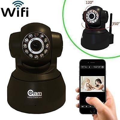 Coolcam WiFi IP Network Camera, Wireless, Video Monitoring, Surveillance, Security Camera, Plug/Play, Pan/Tilt with 2-Way Audio and Night Vision IR Camera