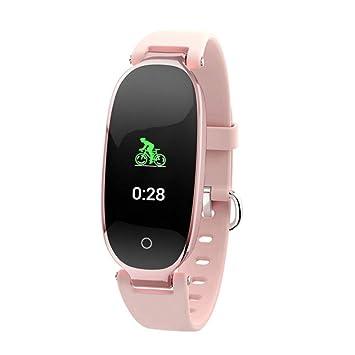 Wolfsay Brazalete Deportivo S3 Plus Pantalla a Color Reloj Elegante Moda Mujer Damas Monitor de Ritmo cardíaco Rastreador de Ejercicios Smartwatch para ...