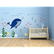 Ocean Wall Decal Kids Room Decor Underwater Wall Decal Nursery Decals Aquarium Wall Decal Sea life Creatures Sea Animals Decals ID271