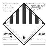 6'' x 6'' Dry Ice UN1845 Labels (500 per Roll)