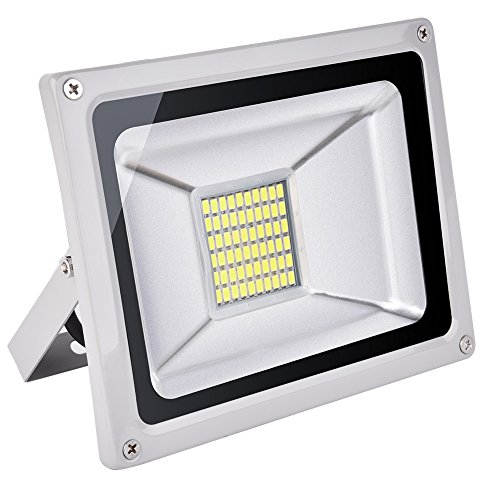 30w Led Flood Light Outdoor, IP65 Waterproof, led light bulbs High Power Equivalent, Super Bright Security Lights, Floodlight Landscape Wall Lights by Coolkun (Cold White, 30W)