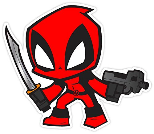 Deadpool comics superhero 4x4 vinyl decal sticker