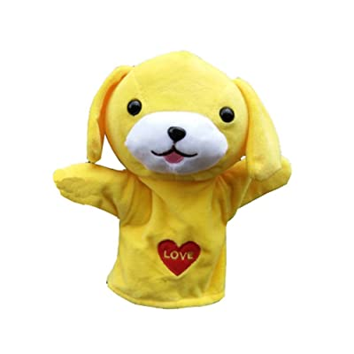 Cute Plush Velour Hand Puppets Designs Kid Child Learning Aid Toy Style de chien