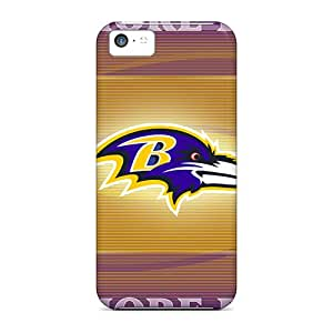 AlissaDubois Iphone 5c Shock Absorbent Cell-phone Hard Cover Custom Beautiful Baltimore Ravens Series [iDD5408ygBN]