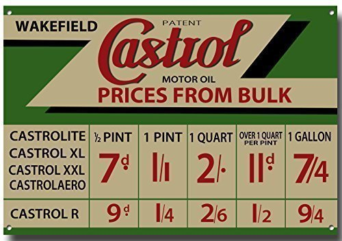 Castrol Advertisment Metal sign with enamelled finish vintagesigndesigns
