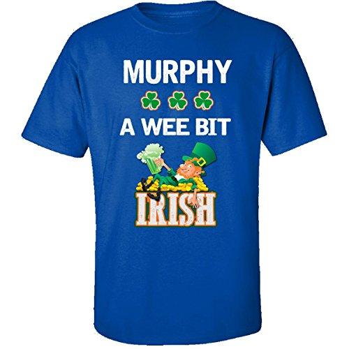 st-patricks-day-shirt-murphy-a-wee-bit-irish-gift-adult-shirt-xl-royal