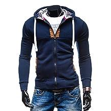 Bestgift men Zip-up Slim Fit Hoodies Outerwear