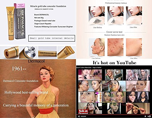 Dermacol Make-Up Cover, Waterproof Hypoallergenic for All Skin Types, Nr 218 (Best Makeup To Cover Rosacea)