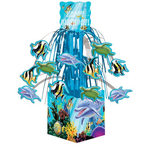 Creative Converting Ocean Party Cascading Centerpiece Decoration, Mini