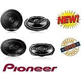 NEW Pioneer TS-G6930F 6 x 9 3-Way Coaxial Speaker 400W Max W/ NEW Pioneer TS-G1620F 6-1/2 2-Way Coaxial Speaker 300W Max.