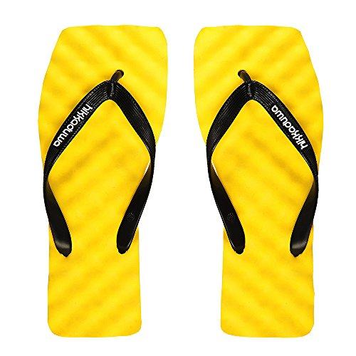 Hikkaduwa - Sandalias de goma para hombre amarillo amarillo