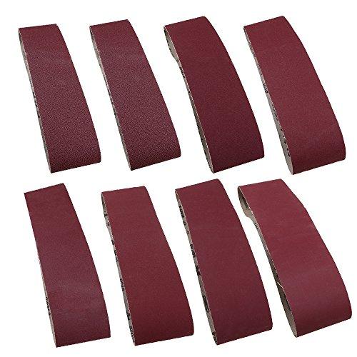 CENDGOOD 4 x 36-Inch Sanding Belt 60 80 100 120 180 240 320 400 Grit Assortment Aluminum Oxide Pack of 8 by CENDGOOD