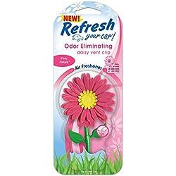 Refresh Daisy Vent Clip Car & Home Odor Eliminating Air Freshener- Pink Petals Scent