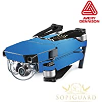 SopiGuard Avery Dennison Matte Pearl Blue Precision Edge-to-Edge Coverage Vinyl Skin Controller Battery Wrap for DJI Mavic Pro