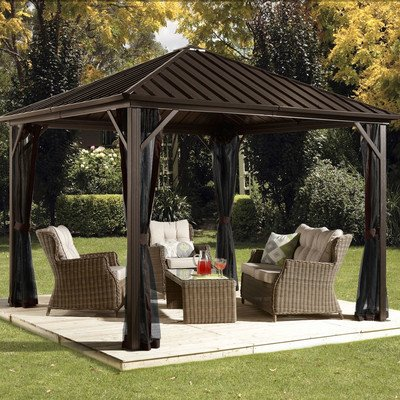 Sojag Dakota Sun Shelter, 10' x 10', Dark Brown by Sojag