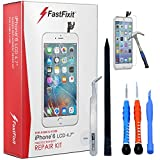 FastFixIT Replacement Complete Repair Kit with Tools and Glass Screen Protector for iPhone 6 - White