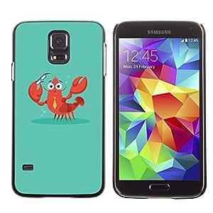TopCaseStore / la caja del caucho duro de la cubierta de protección de la piel - Crab Lobster Smart Teacher Teach - Samsung Galaxy S5 SM-G900
