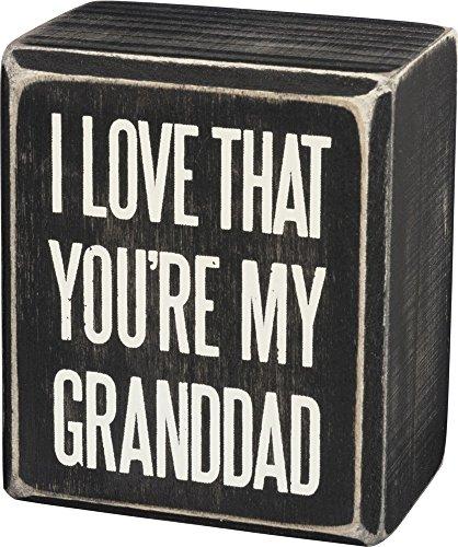 Primitives by Kathy Box Sign My Granddad Home Decor