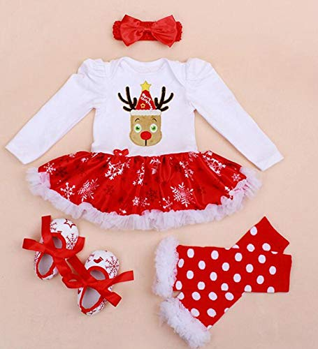 Fygrend - Infant Baby Girl Summer Long Suit Novelty Costume Baby Christmas Clothing Sets Santa Rompers Birthday Party Cosplay Gift 4color [ 24M 4 ]