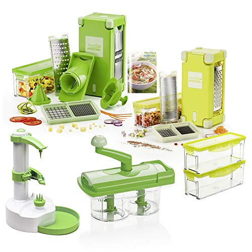 Genius Nicer Dicer Magic Cube incl. Nicer Twist/38Parts/Slicing/Grating/Julienne/Spirals/Slicing/Dicing | Fruit & Vegetable | as seen on TV | New