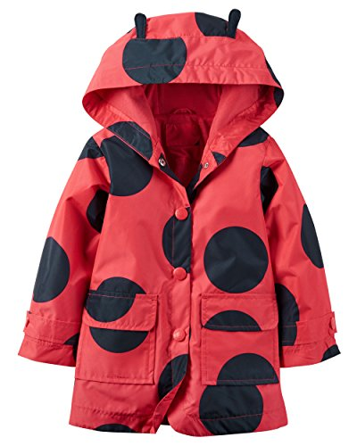 - Carter's Baby Girls' Hooded Rain Jacket (24 Months, Ladybug Print 2)