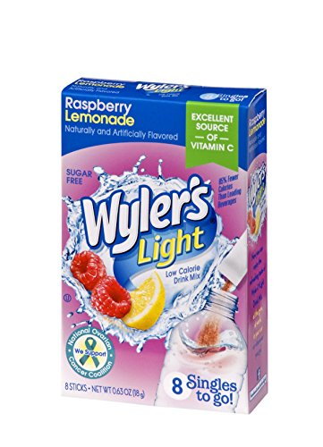 Wyler's Light Singles To Go Powder Packets, Water Drink Mix, Raspberry Lemonade, 96 Single Servings (Pack of - Simply Singles