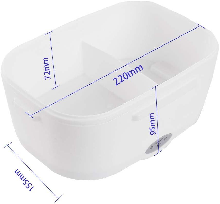 Galapara Bo/îte Chauffante Lunch Box S/épar/é Chauffante /Électrique Bo/îte Alimentaires Bo/îte Repas en Acier Inoxydable /à Pique-Nique