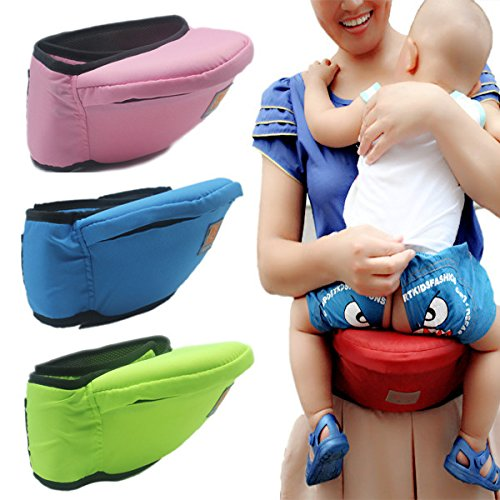 ENLINA Baby Toddler Hip Seat Carrier Baby Waist Seat (red)