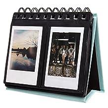 [Fujifilm Instax Mini Photo Album] Woodmin 68 Pockets Desk Calendar Album for Fuji Instant Mini 70 7s 8 25 50s 90, Polaroid Z2300, Polaroid PIC-300P Film(Blue)