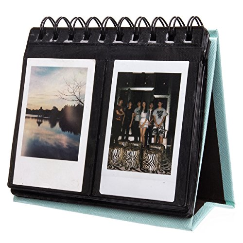 [Fujifilm Instax Mini Photo Album] Woodmin 68 Pockets Desk Calendar Album for Fuji Instant Mini 70 7s 8 25 50s 90, Polaroid Z2300, Polaroid PIC-300P - Warranty Blue Dog Forever