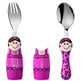 Eat4Fun Duo Collection Kids Fork & Spoon, Ballerina