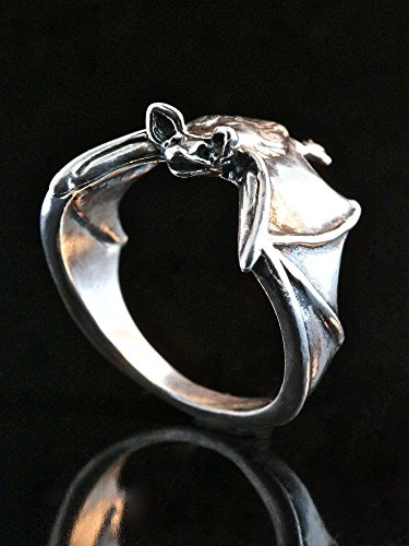 Bat Ring Silver Wing Bat Classic Flying Bat Jewelry by Marty Magic Jewelry