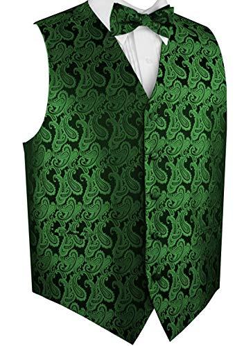 Vest With Bowtie (Brand Q Men's Tuxedo Vest and Bow-Tie Set-Green)