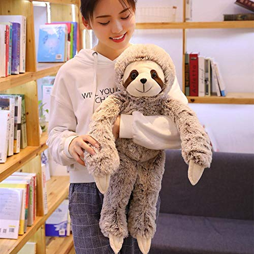 KoreaFashion 1Pc Simulation Sloth Plush Toy Soft Animal Stuffed Lifelike Sloth Dolls Bear Toys for Kids Birthday Gift 50/70Cm Boy Must Haves 1 Year Old Girl Gifts Boys Favourite ()