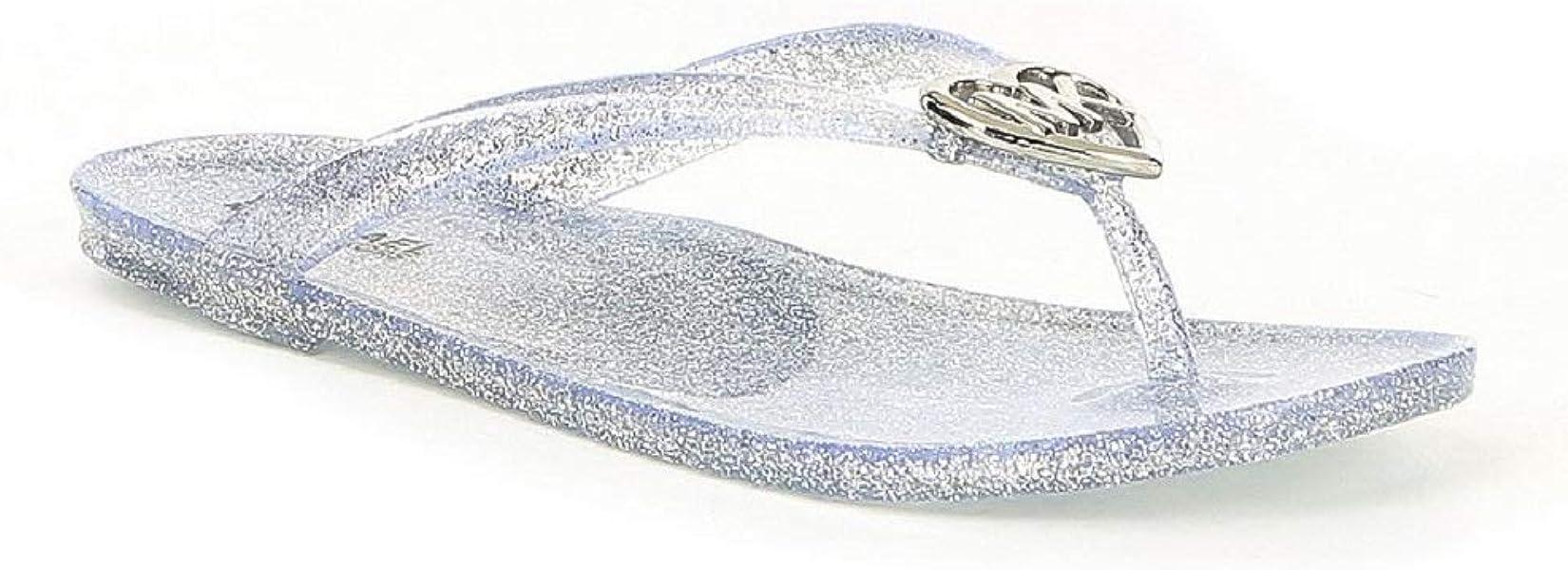 d2a978e48a63 Michael Michael Kors Girls  Trish Glare Glitter Flip-Flops Silver (4
