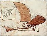 da vinci flying machine - Flying Machine Poster Print by Leonardo Da Vinci (11 x 14)