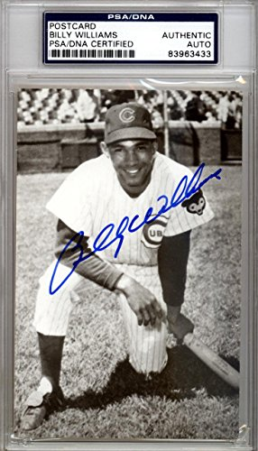 Billy Williams Autographed Signed 3.5x5.5 Postcard Chicago Cubs #83963433 PSA/DNA Certified MLB Cut Signatures