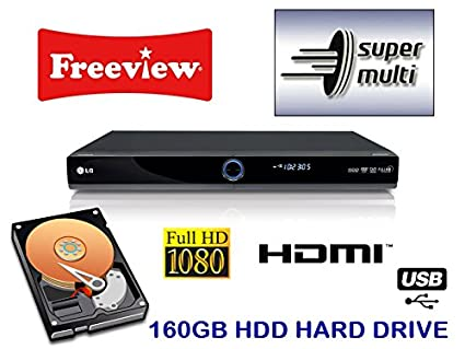 LG RHT497H Multi Format DVD Recorder,160GB HARD DRIVE HDD, FREEVIEW, HDMI  1080P