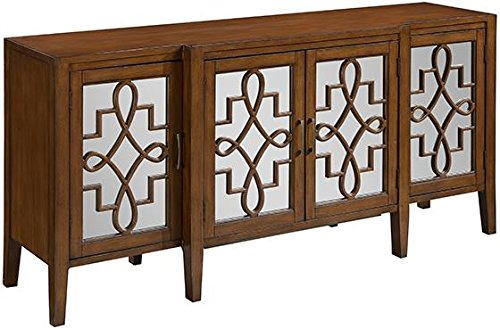 "Clover Mirrored Cabinet, 34""Hx72""Wx19""D, BROWN - 34""H x 72""W x 19""D. Simple assembly. Our No Hassle Return policy gives you peace of mind to enjoy the purchase in your home for up to 45 days. - sideboards-buffets, kitchen-dining-room-furniture, kitchen-dining-room - 51kkg7gmdLL -"