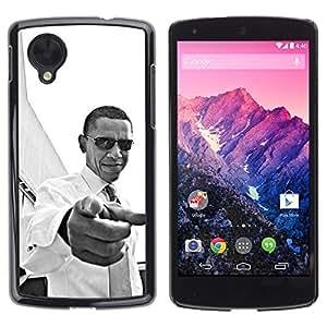 For LG Google NEXUS 5 / E980 /D820 / D821,S-type® America Patriotism You Black - Arte & diseño plástico duro Fundas Cover Cubre Hard Case Cover