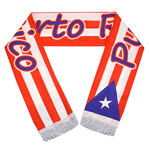 (Soccer Suit Fans Scarf, Puerto Rico Soccer Scarf)