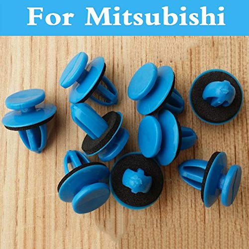 Fastener & Clip New 50pcs Blue Rivets Auto Door Panel Clips Fasteners for Mitsubishi Cargo Evolution Ralliart I-Miev Lancer Minica Galant I