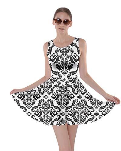 CowCow Womens Oriental Damask Arabesque Floral Aztec African Print Skater Dress, XS-5XL
